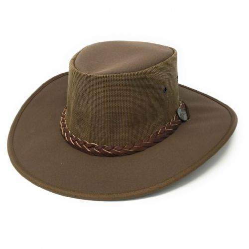 Barmah Canvas Drover Cooler Hat 1057 - Brown